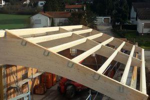 Dachkonstruktion von oben