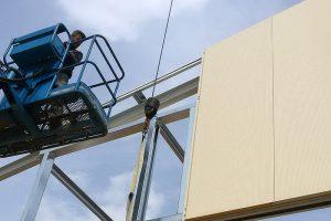 Anbringen der Fassadenverkleidung